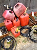red gas cans*
