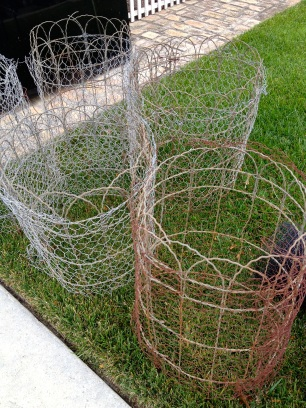 wire coils:lawn**