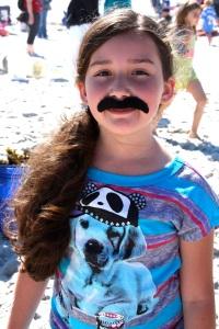 girl w:mustache