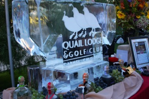quail ice sculpture