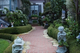 Carmel cottage walkway