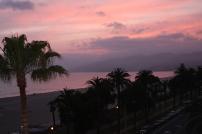 sunset w:palms