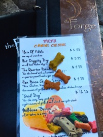 coastal/doggie menu