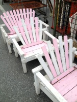 coastal:pink chairs